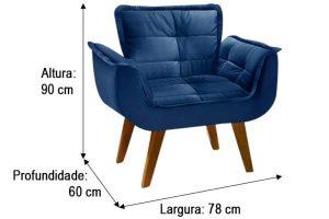 Poltrona Azul - Modelo Rebeca (2)