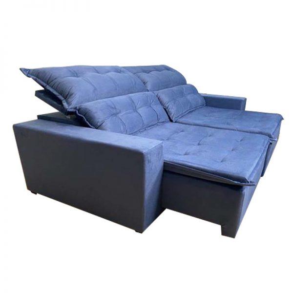 Sofá-Retrátil--california-2.20m-azul-aberto
