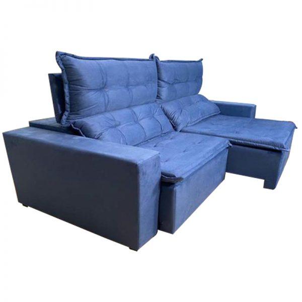 Sofá-Retrátil--california-2.20m-azul-aberto-lateral