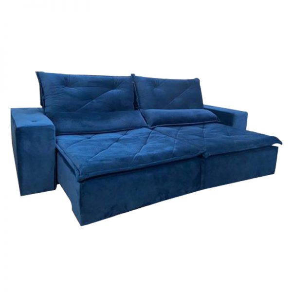 Sofá-Retrátil-reclinavel-esplendor-2.10m-azul-aberto