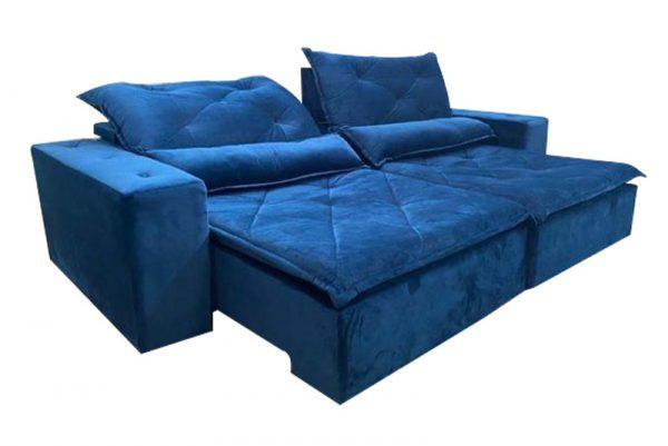 Sofá-Retrátil-reclinavel-esplendor-2.10m-azul-reclinado