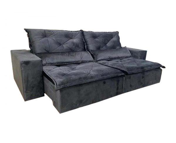 Sofá-Retrátil-reclinavel-esplendor-2.10m-preto-aberto