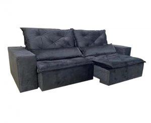 Sofá-Retrátil-reclinavel-esplendor-2.10m-preto-fechado-lateral