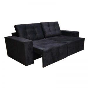 Sofá-Retrátil-reclinavel-malibu-preto-aberto