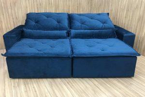 Sofá Retrátil Azul 2.10 m de Largura – Modelo Esplendor em Rio de Janeiro