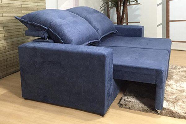 Sofá Retrátil Reclinável 1.90m - Modelo Miami Azul