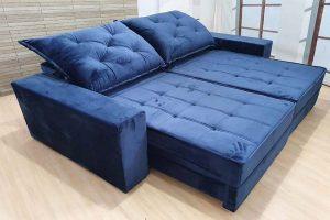 Sofá Retrátil Reclinável 2.30m - Modelo Star Azul