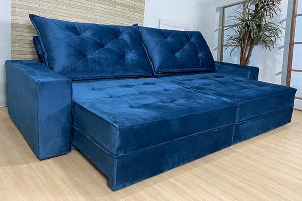 Sofá Retrátil Reclinável 2.90m - Modelo Líbano Marrom