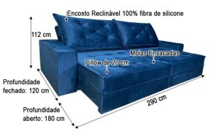 Reclinável e 100% fibra de silicone