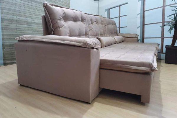 Sofá Retrátil Reclinável 3.20m - Modelo Berlim Bege