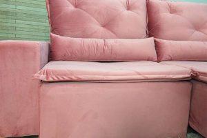 Sofá Retrátil Reclinável 2.30m - Modelo Ômega Rosa