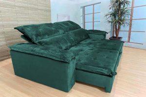 Sofá Retrátil Reclinável 2.30m - Modelo Holanda Verde