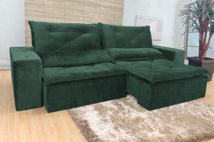 Sofá Retrátil Reclinável 2.30m - Modelo Ômega Verde