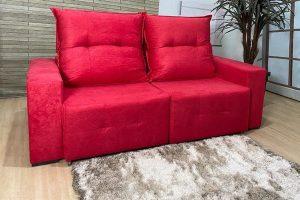 Sofá Retrátil Reclinável 1.90m - Modelo Miami Vermelho