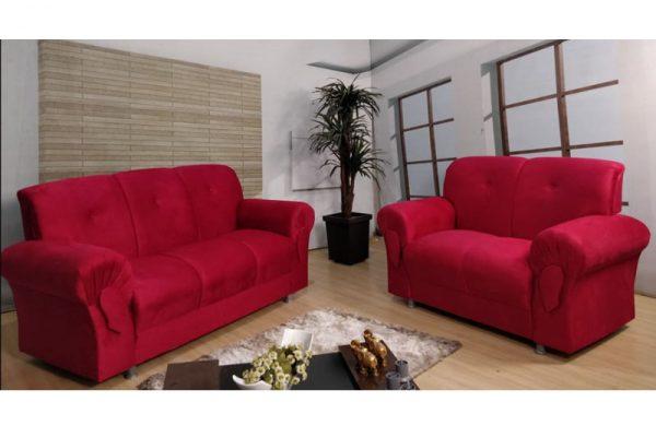 Sofa-de-2-e-3-lugares-Vermelho-Modelo-Fortaleza