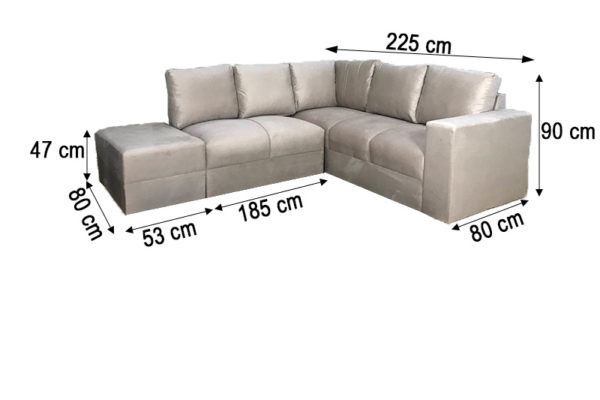 Sofa de Canto Bege Anetho