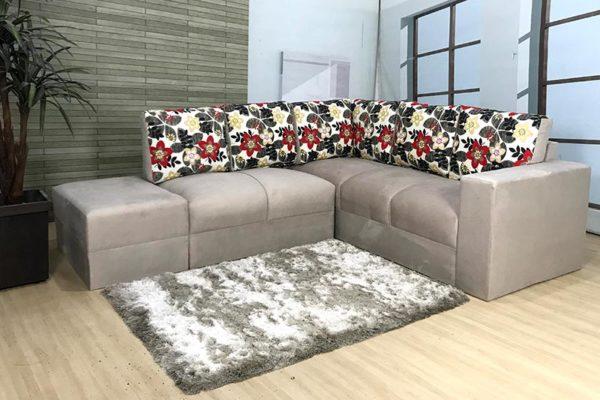 Sofa de Canto Bege Aneth