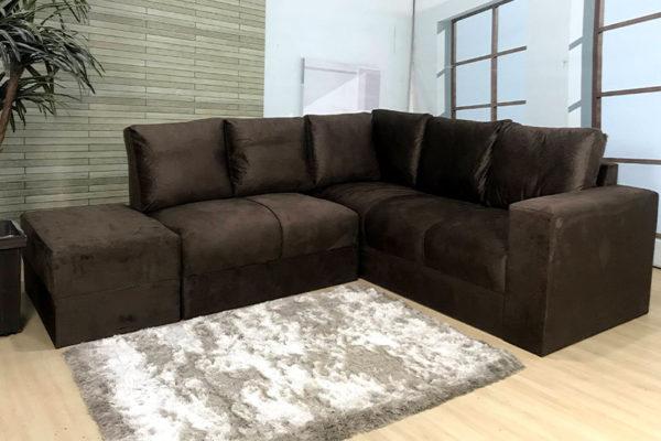 Sofa de Canto Marrom Anetho (2)