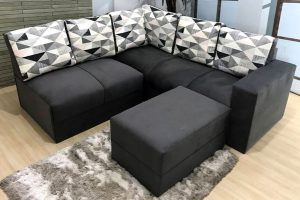 Sofa de Canto Cinza Estampado Anetho (4)