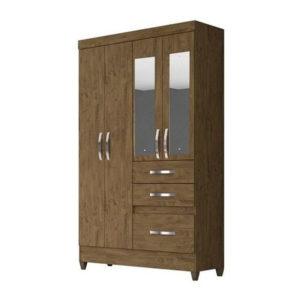 guarda-roupa-4-portas-com-espelho-new-tamis-castanho