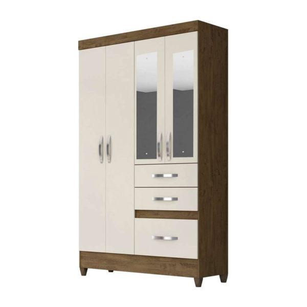 guarda-roupa-4-portas-com-espelho-new-tamis-castanho-baunilha