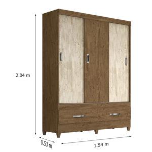 guarda-roupa-new-suécia-3-portas-castanho-avela-medidas