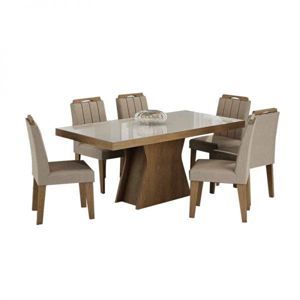 mesa-olívia-6-cadeiras-eliza-savana-caramelo