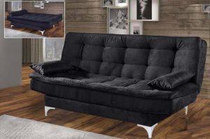 sofa cama stilo preto